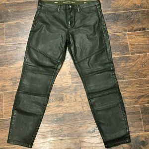 Banana Republic Sz 31 Green Moto Skinny Zip Jeans